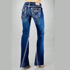 True Religion Distressed Disco Joe Big T Jeans  29